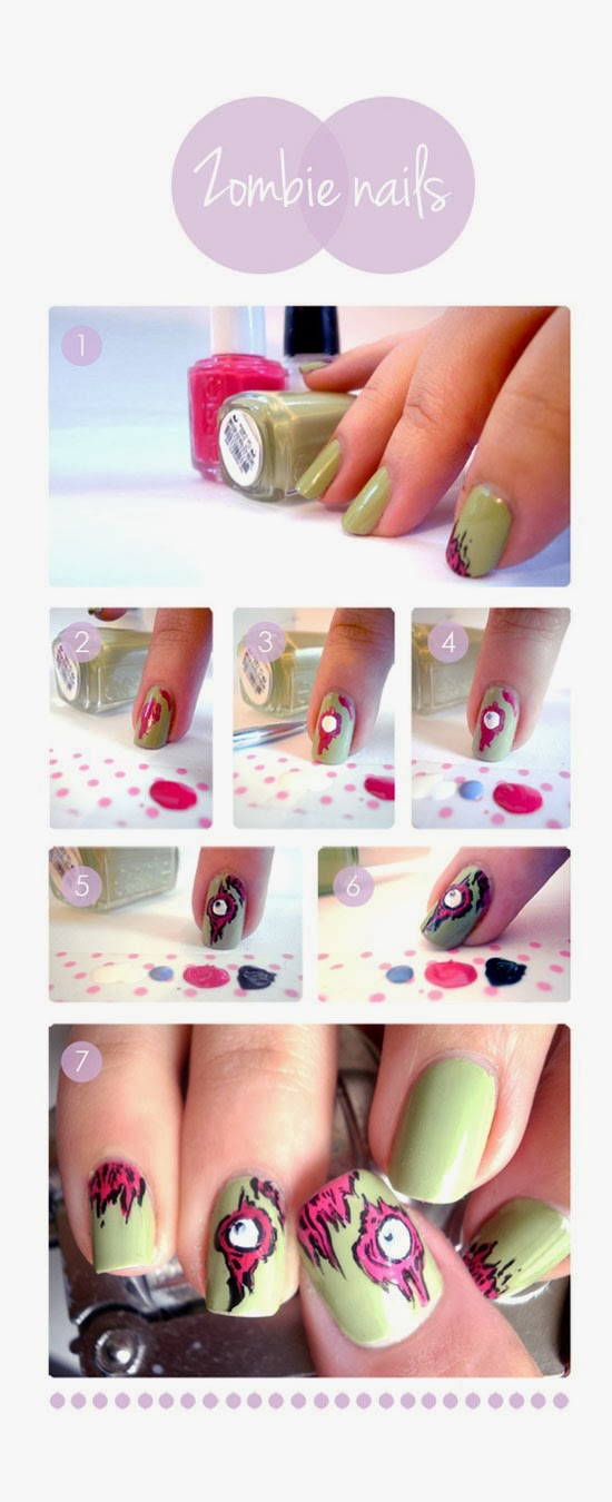 Simple Nail Art Step by Step Instruction   Fashionate Trends Simple Nail Art Step By Step