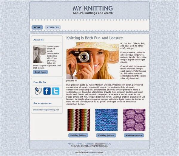 My Knitting - Free Joomla! Template