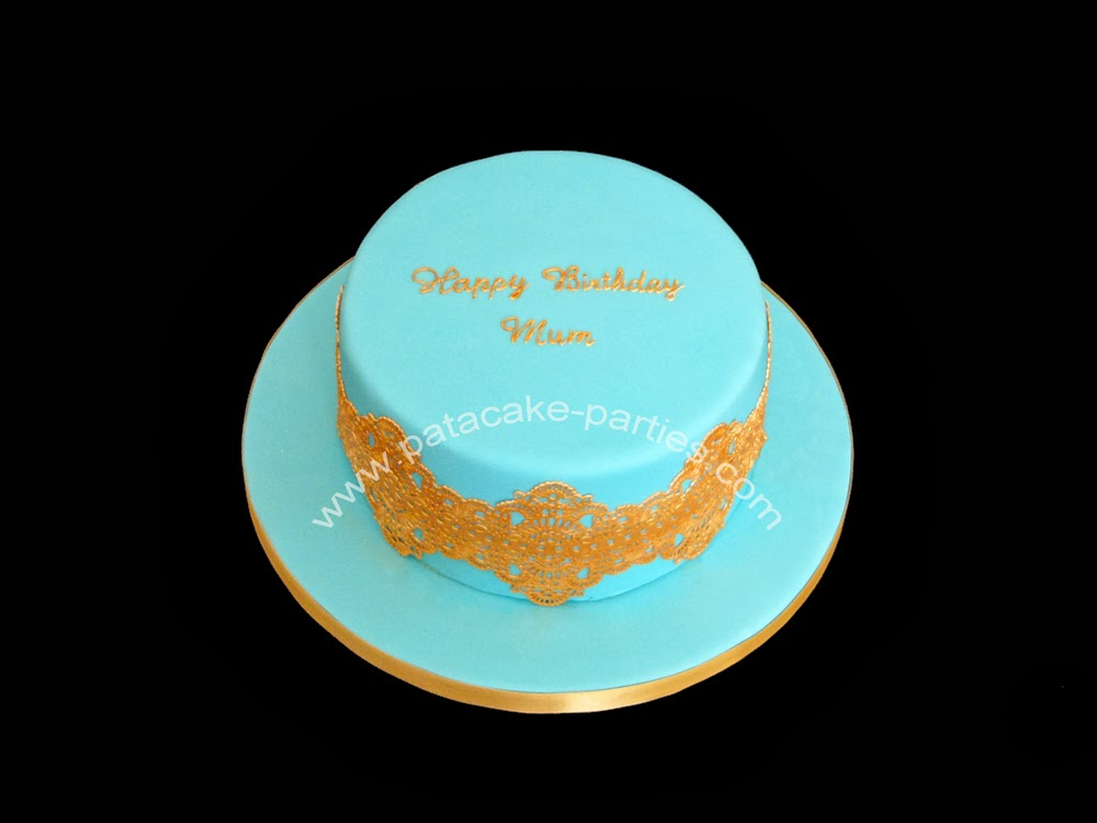 PataCake Parties Edible Lace Birthday Cake