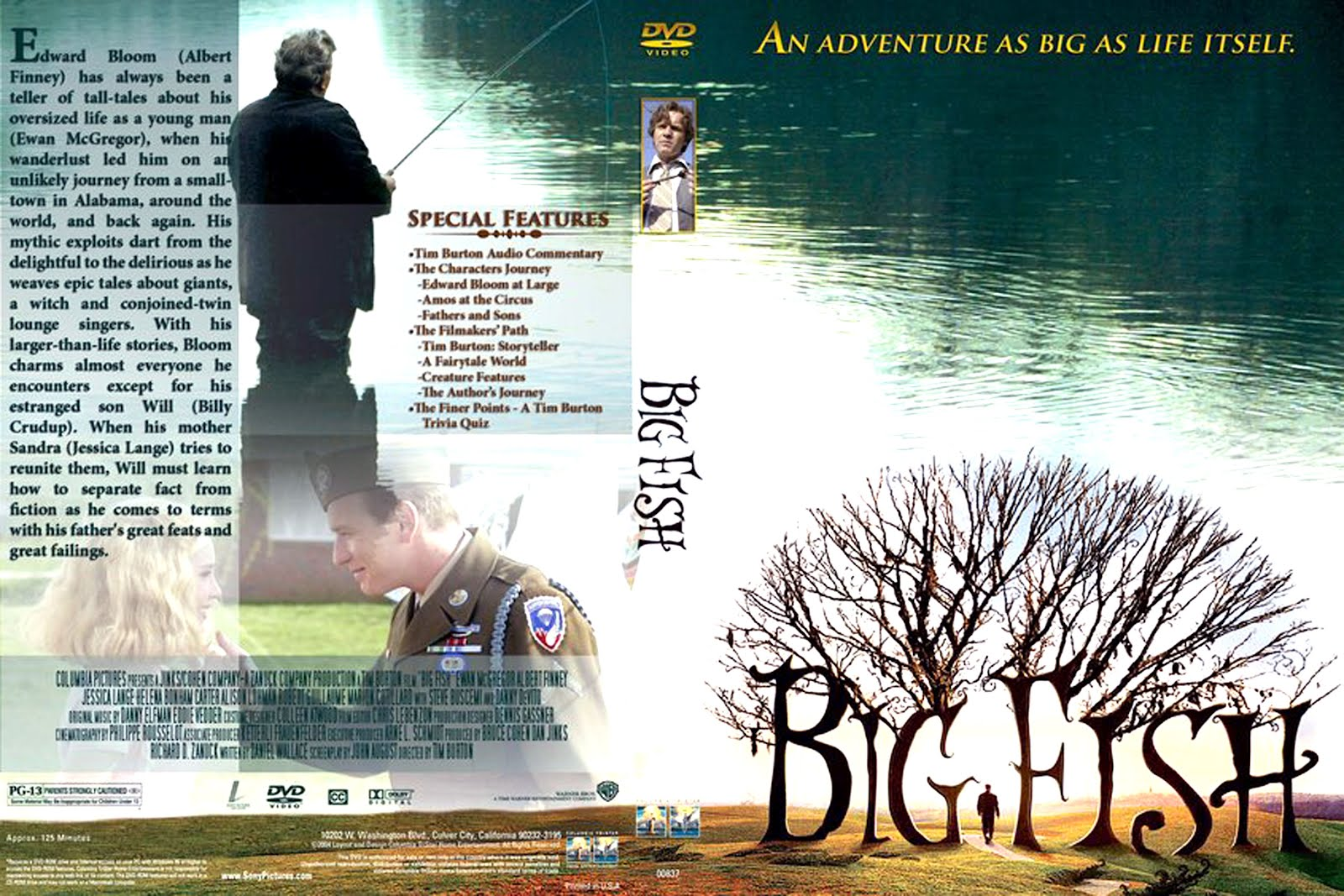Big Fish Dvd Disk Cover