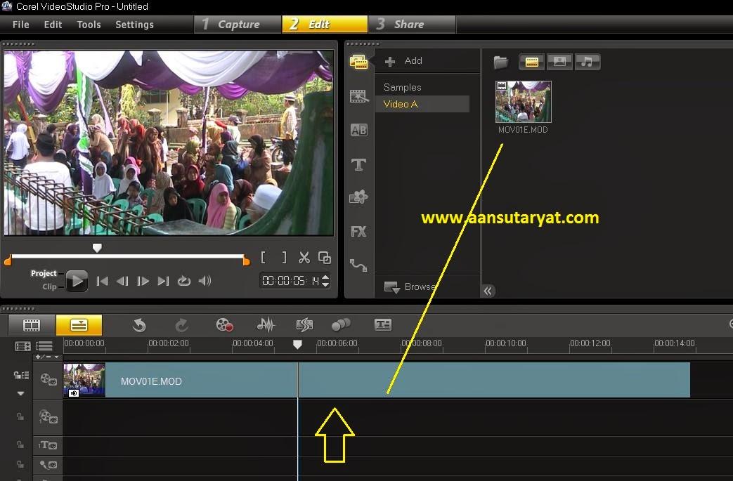 Teknik Memotong (Cutting) Klip Video Pada Corel Video Studio Pro X6