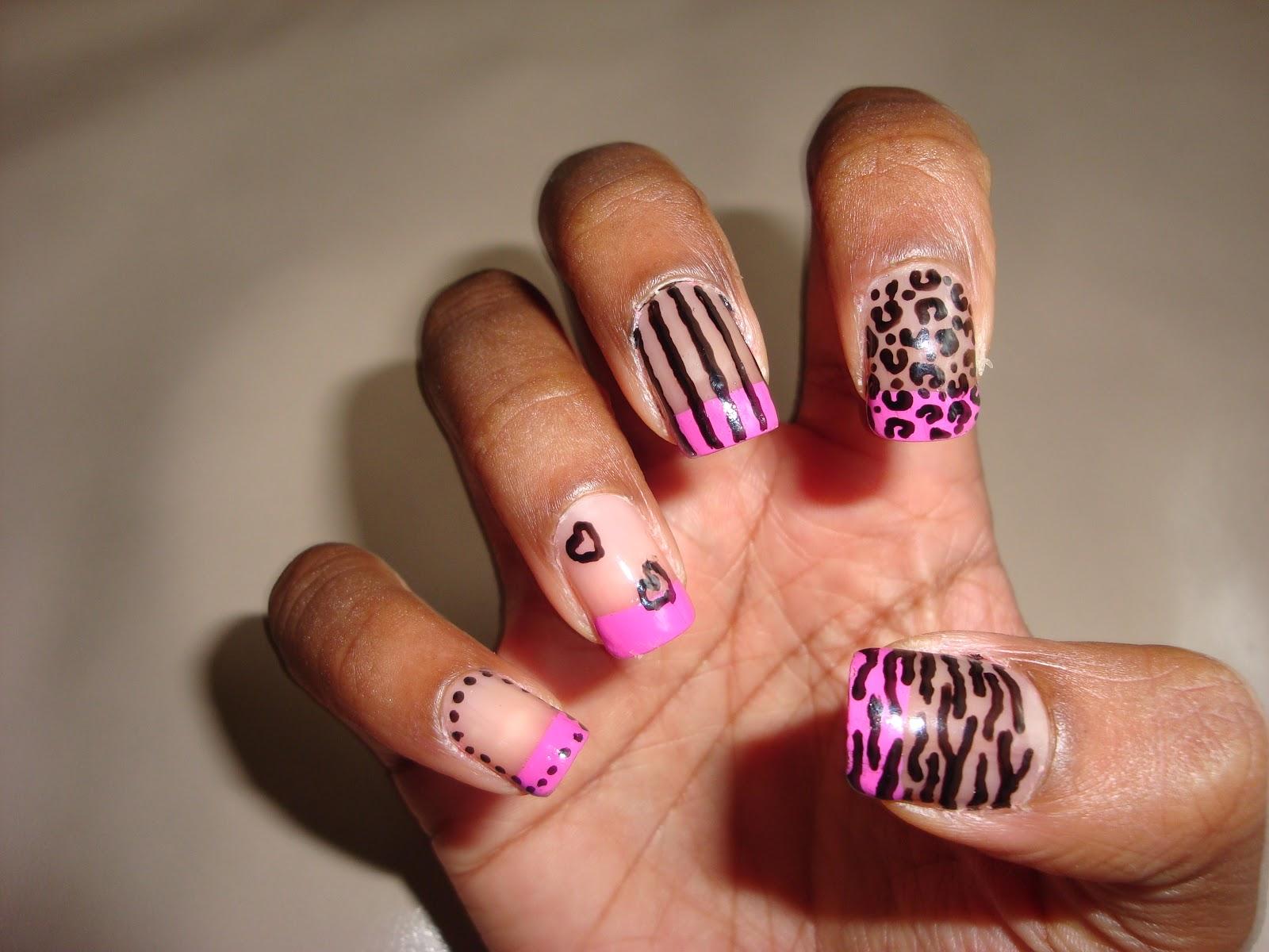The Breathtaking Cheetah and zebra print nail designs Photo