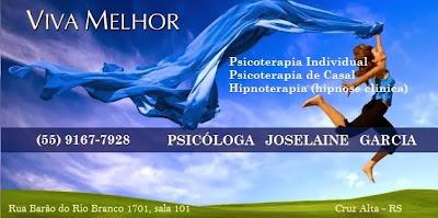 Psicóloga e Hipnóloga Joselaine Garcia - Cruz Alta RS