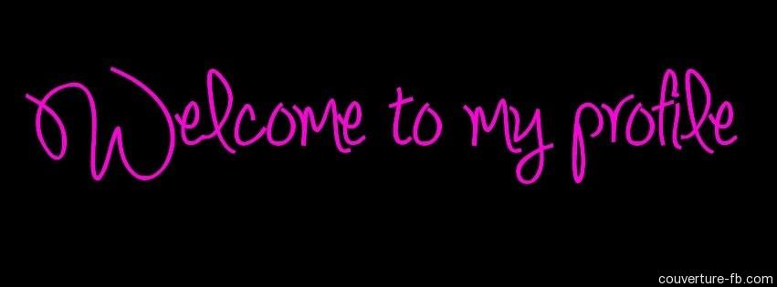 une couverture Facebook pour souhaiter le bienvenu pour les visiteurs ...