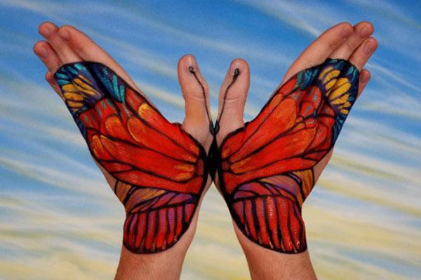hand make butterfly