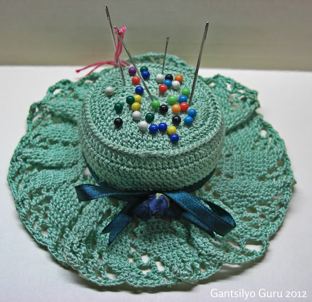 Pattern for the Pin Cushion was taken from the At Home With Crochet ...