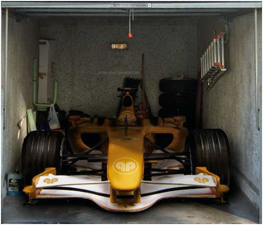 Garage Door Sticker:F1 Car