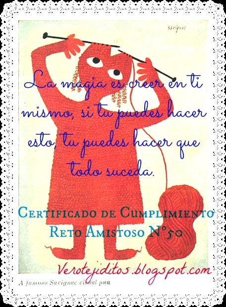 Certificado reto 50