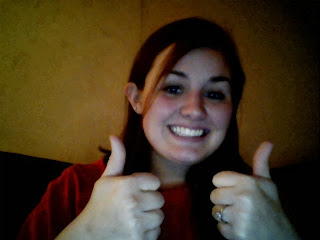 Me giving two thumbs up