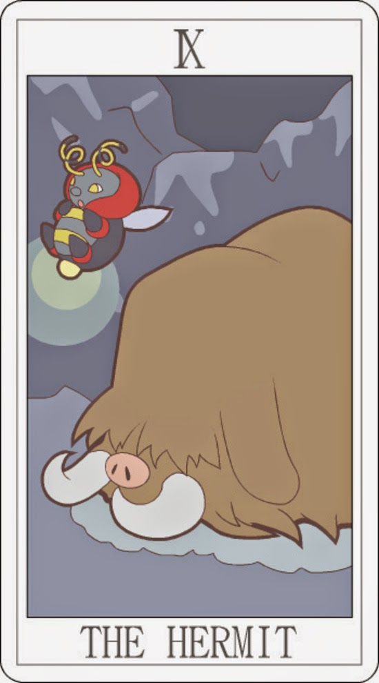 Pokemon Tarot - The Hermit