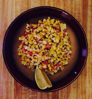 Corn Salad aka Grilled Elote Salad