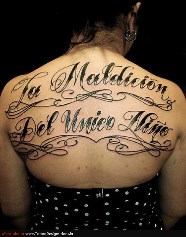 Tattoos change letter fonts for