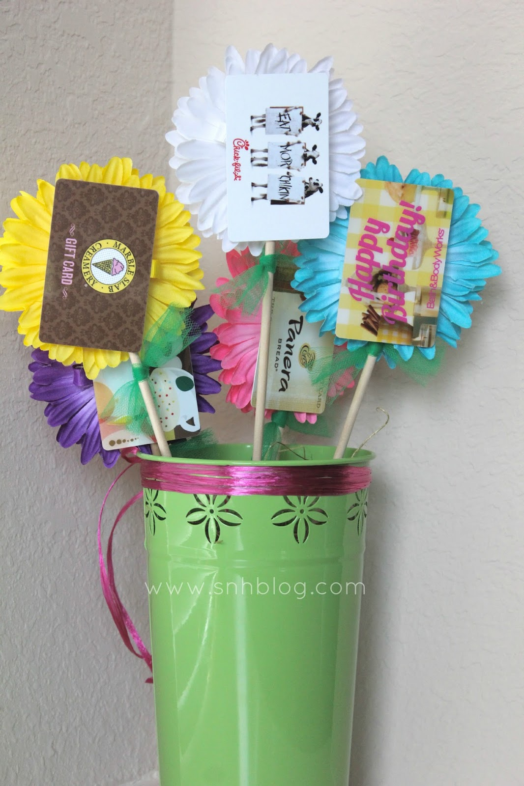 Southern mess saw it pinned it did it gift card bouquet negle Choice Image