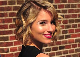 Dianna Agron bob haircut 2012