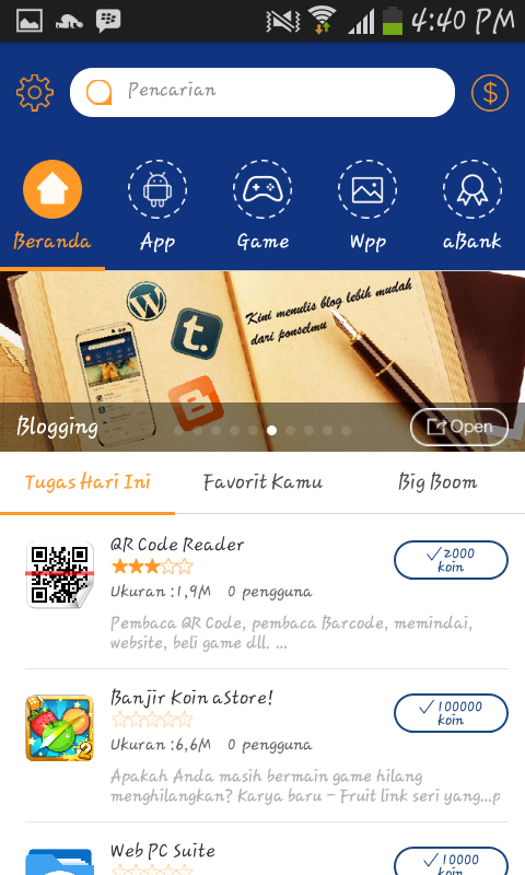 Free Download Astore.apk Aplikasi Pulsa Gratis