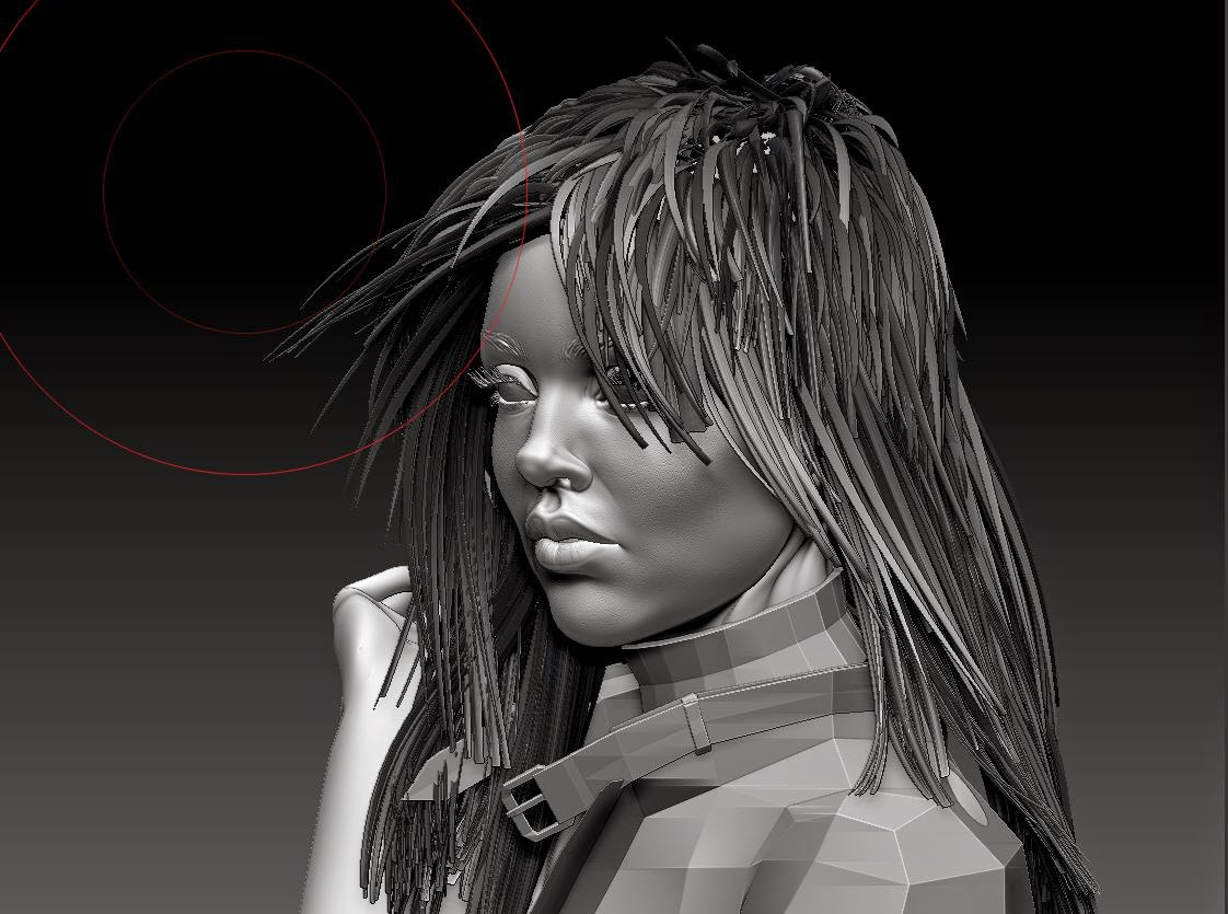 how to make hair in zbrush