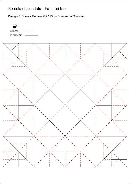 origami CP Scatola Sfaccettata by Francesco Guarnieri