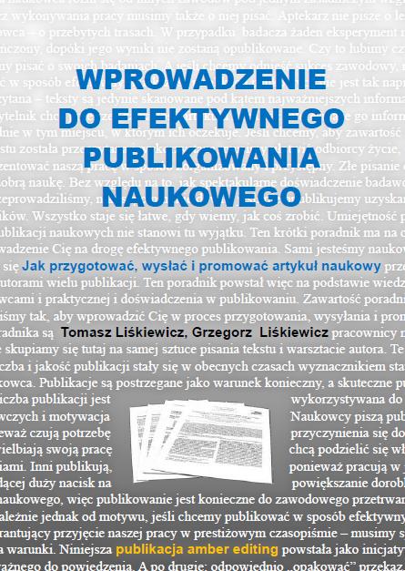 """Okładka publikacji """"Wprowadzenie do efektywnego publikowania naukowego"""""""