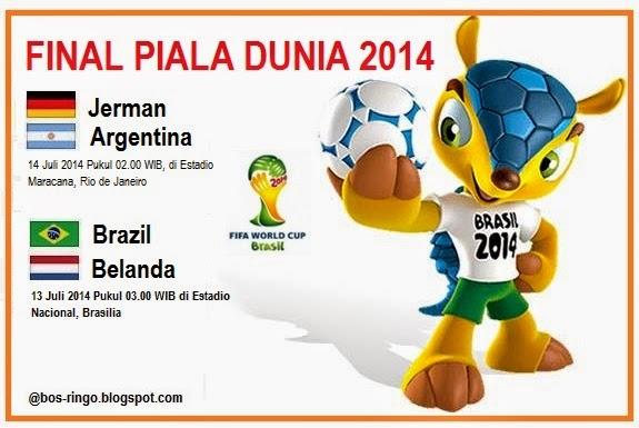 Jadwal Laga Jerman vs Argentina Final Piala Dunia 2014 di Brazil
