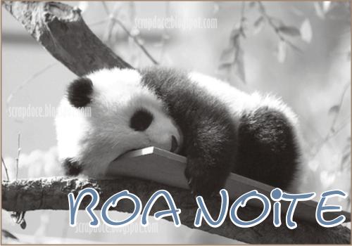 Recadinho de Boa Noite com foto de Panda para compartilhar no Facebook