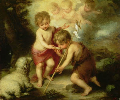 John the Baptist with Jesus Lamb