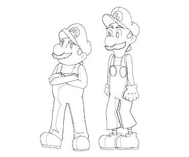 #9 Luigi Coloring Page