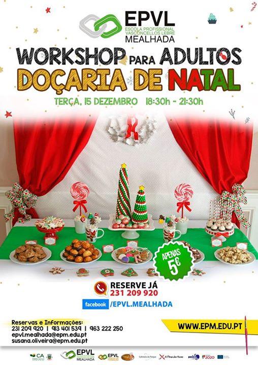 Workshop de doçaria de Natal na Mealhada
