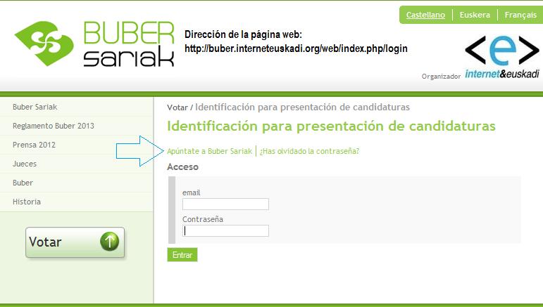 Registro en los Buber Sariak