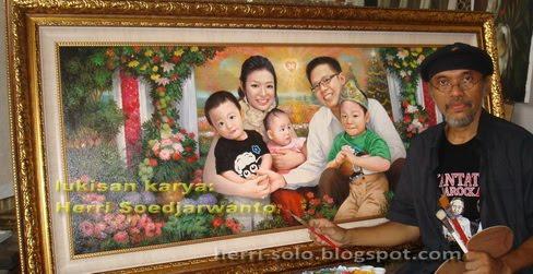 """PROSES PEMBUATAN : """"Happy Family"""", Lukis Wajah yang dibuat berdasarkan Feng Shui Keluarga"""