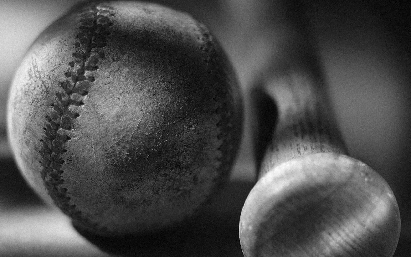 Baseball bat and ball black and white HD photos