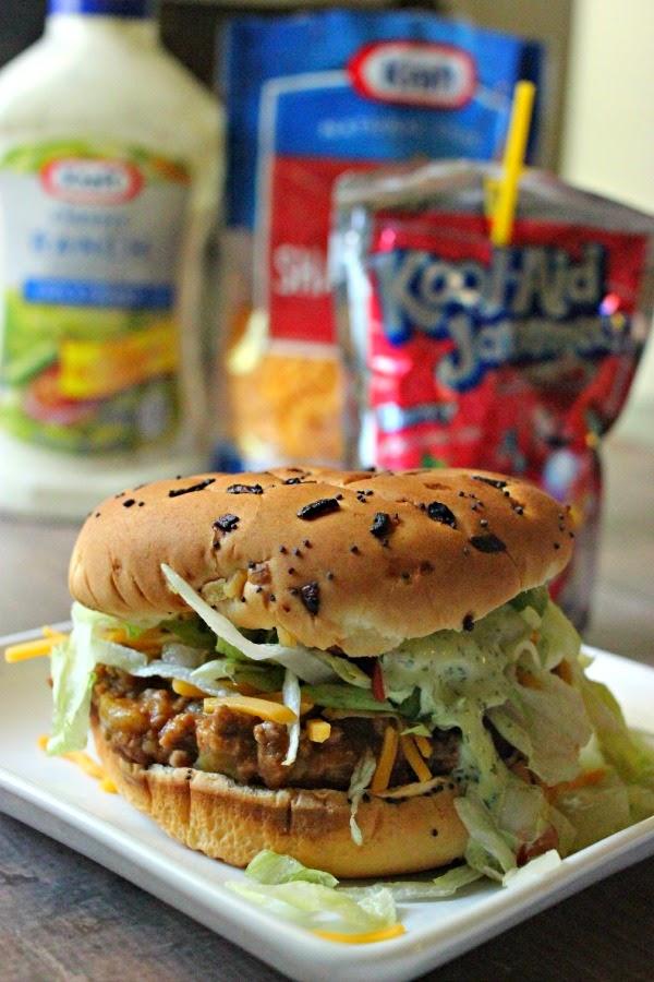 Recipe: Taco Burgers & Scallion Cilantro Lime Ranch. AKA Mexican Sloppy Joes or Bun Taco