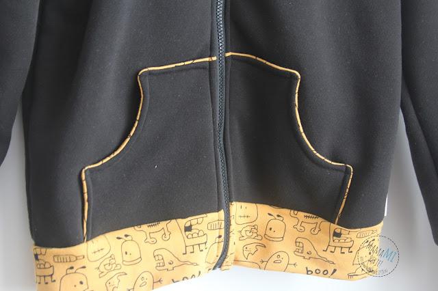 bluza z zamkiem i dresowym ściągaczem