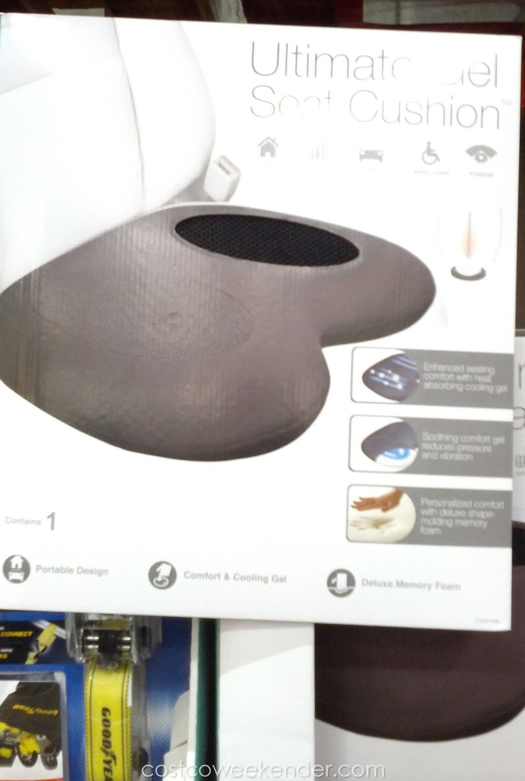 Costco 615905 - Drive for longer with the Winplus Ultimate Gel Seat Cushion