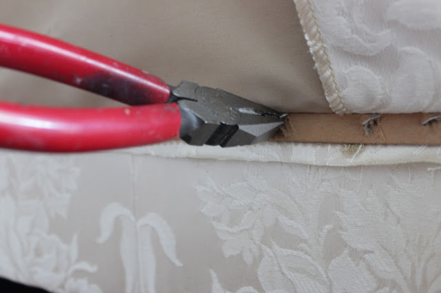 how to remove staples from furniture