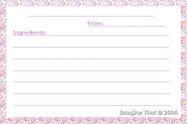Crafting baby stuff imagine that free baby food recipe cards confetti baby food recipe card forumfinder Gallery