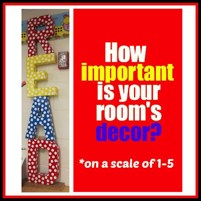 How important is your classroom's decor? (RoundUP at RainbowsWithinReach)