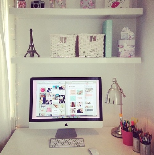 Pieces of what workspace inspiration for Tumblr desk ideas