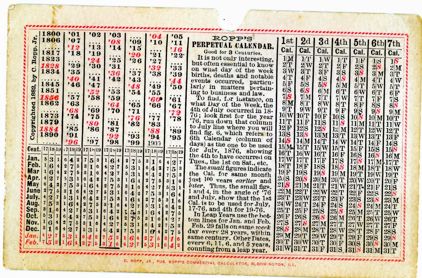 Perpetual Calendar 1800 To 2050 : World of the written word june
