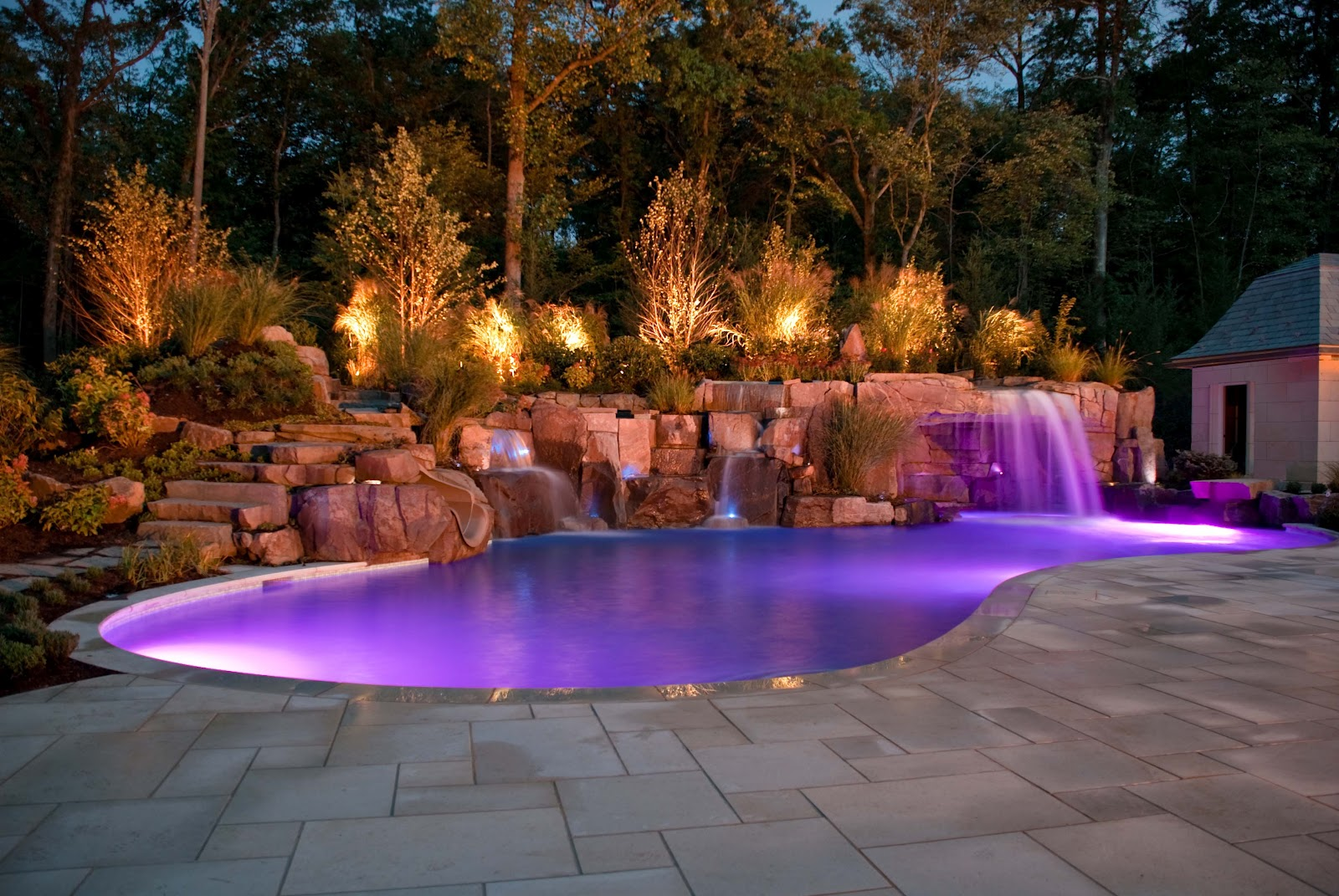 Beautiful inground pools wonderful for Underground swimming pool designs