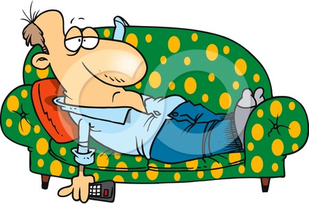 Lazy Person On Couch Cartoon Accueil