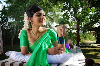 Actress Neelam Upadyaya Latest  Pictures in Green Saree  0006.jpg
