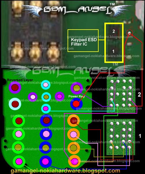 Nokia 2690 Keypad IC Track Ways Jumper Solution
