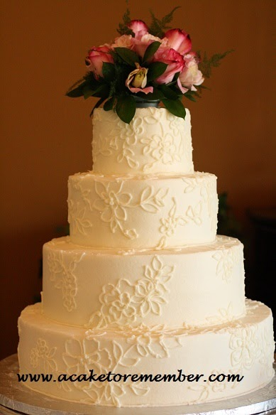 Lace Piping Cake Decorating : A Cake To Remember VA: Lace Wedding Cakes