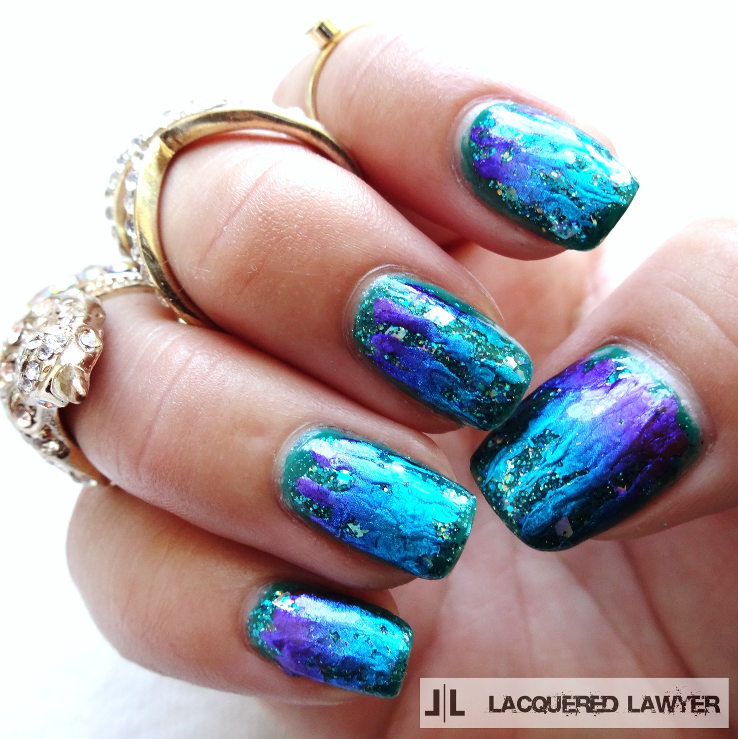 Lacquered lawyer nail art blog foil fantasy foil fantasy teal foil nail art prinsesfo Choice Image