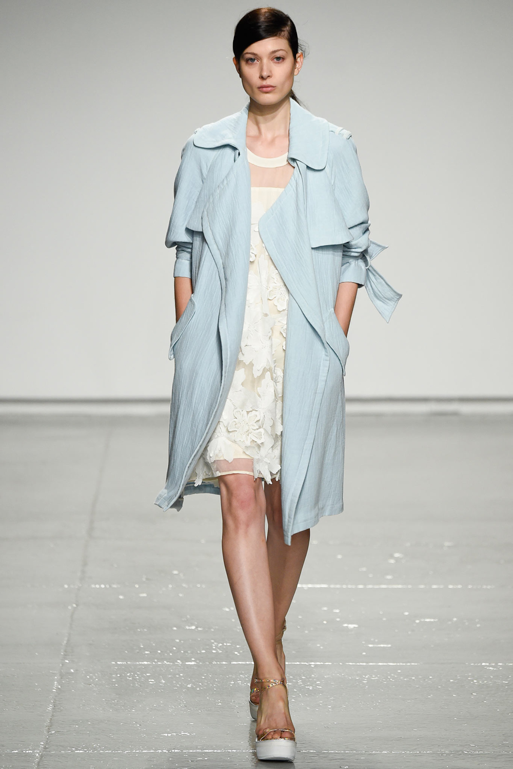 Pantone Colour Report Spring 2015 trends / aquamarine / how to wear aquamarine / outfit ideas / fashion collections S/S 2015 / Rebecca Taylor Spring 2015 / via fashioned by love british fashion blog