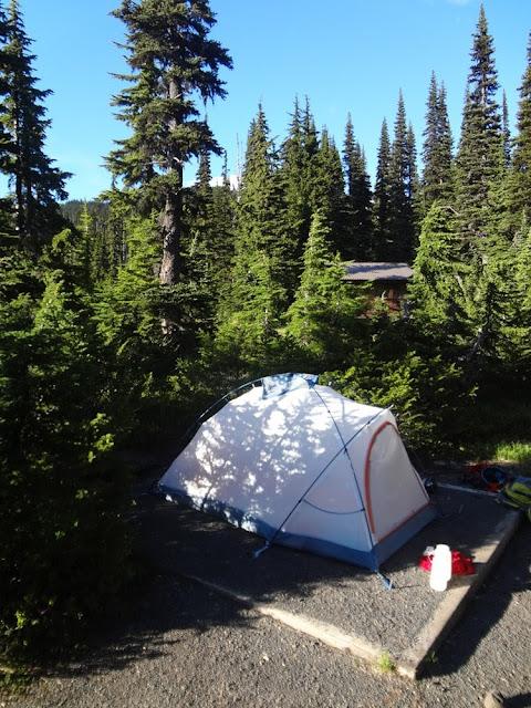 Tent at Taylor Meadows Campsite, Garibaldi Provincial park
