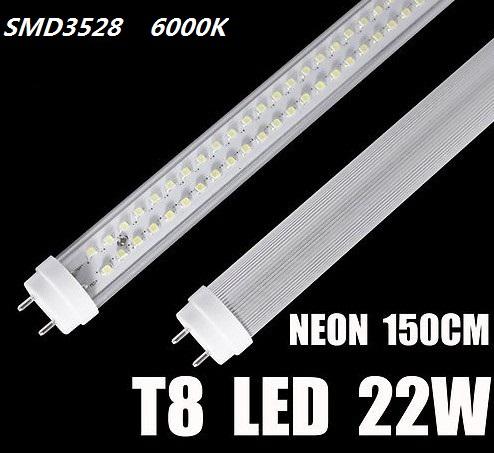 tubo neon led t8 g13 150cm led smd3528 36w 2000lumen 6500k. Black Bedroom Furniture Sets. Home Design Ideas