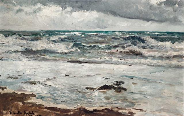 Mar de Tomenta en Valencia, Joaquín Sorolla Bastida, Paisajes de Joaquín sorolla, Pintor español, Joaquín sorolla