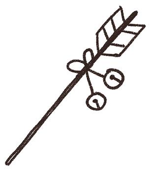 破魔矢のイラスト(お正月) 線画