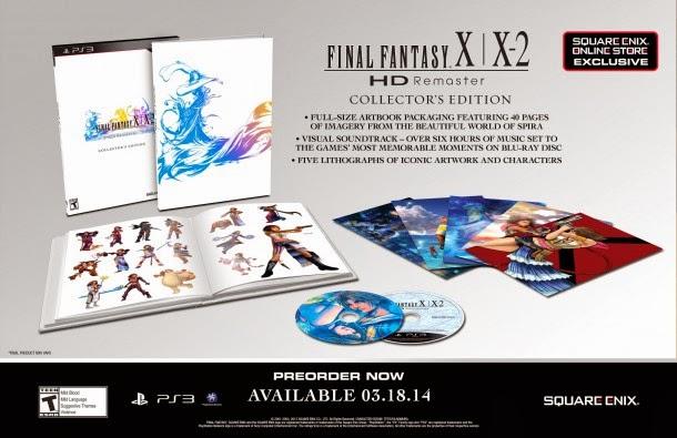 Detalles y fecha de la edición de PSVita de Final Fantasy X | X-2 HD Remaster, y edición coleccionista de PS3